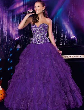 Vestido de Debutante Glamour Band 21