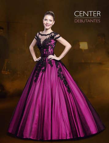 Vestido de Debutante Preto com Rosa 2 em 1